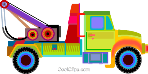 tow truck Royalty Free Vector Clip Art illustration vc010075