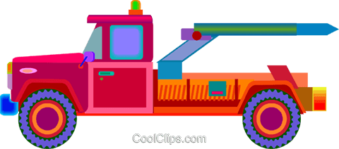 tow truck Royalty Free Vector Clip Art illustration vc010085