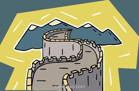 Great Wall of China Royalty Free Vector Clip Art illustration ...