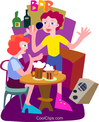 karaoke Royalty Free Vector Clip Art illustration vc010123