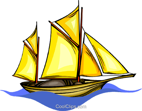 sailboat Royalty Free Vector Clip Art illustration vc010144
