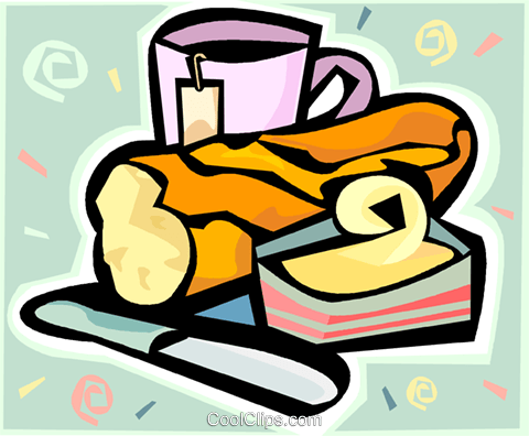 bread and butter Royalty Free Vector Clip Art illustration vc010153