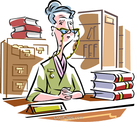 librarian Royalty Free Vector Clip Art illustration vc010169