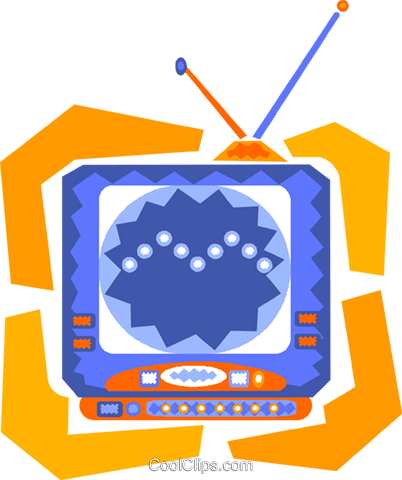 television Royalty Free Vector Clip Art illustration vc010178