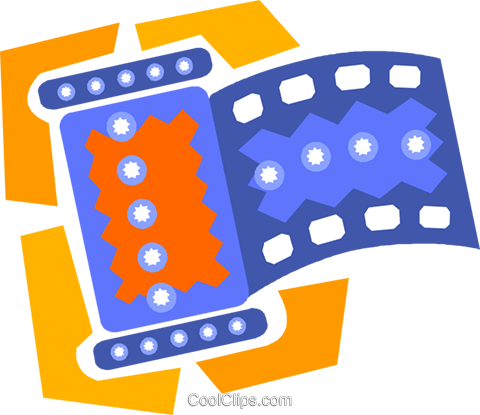 roll of film Royalty Free Vector Clip Art illustration vc010184