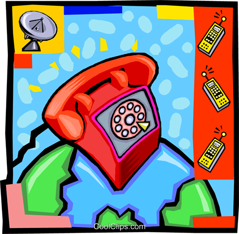telephone Royalty Free Vector Clip Art illustration vc010198