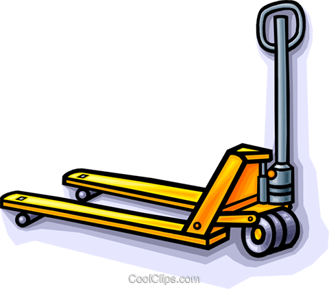 jigger, forklift Royalty Free Vector Clip Art illustration vc010231