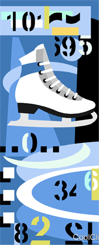 Figure skating Royalty Free Vector Clip Art illustration vc010253