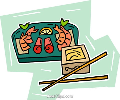 sushi Royalty Free Vector Clip Art illustration vc010288