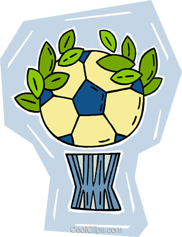 soccer ball Royalty Free Vector Clip Art illustration vc010305