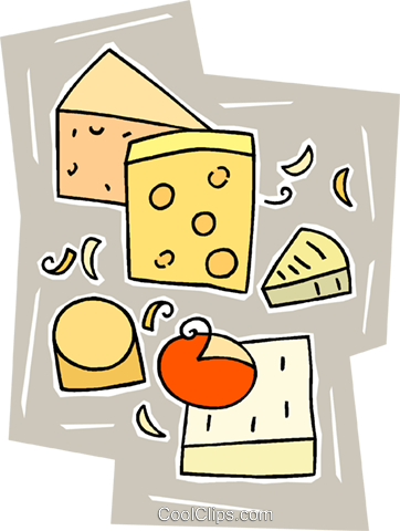 cheeses Royalty Free Vector Clip Art illustration vc010321