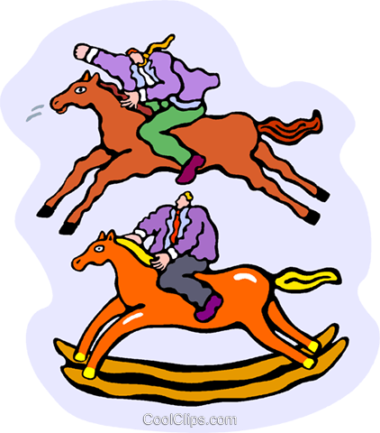 horse, rocking horse Royalty Free Vector Clip Art illustration vc010338