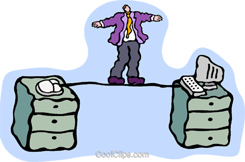 tightrope walker Royalty Free Vector Clip Art illustration vc010339