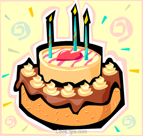 Birthday cake Royalty Free Vector Clip Art illustration vc010391