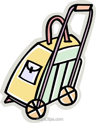 luggage dolly Royalty Free Vector Clip Art illustration vc010401
