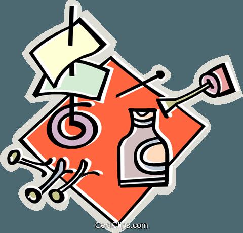 Büromaterial clipart  Flüssigkeit Papier, Stifte, Büromaterial Vektor Clipart Bild ...