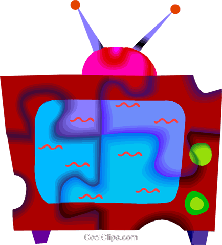 television Royalty Free Vector Clip Art illustration vc010440
