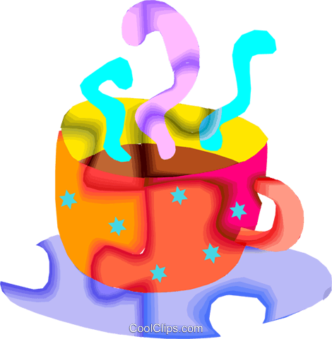 cup of coffee Royalty Free Vector Clip Art illustration vc010451