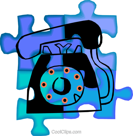 telephone Royalty Free Vector Clip Art illustration vc010453