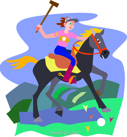 Polo player Royalty Free Vector Clip Art illustration vc010465