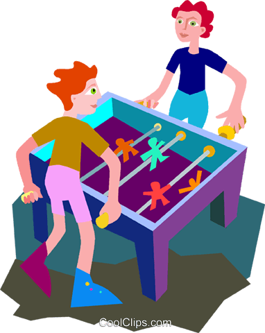 foosball Royalty Free Vector Clip Art illustration vc010470