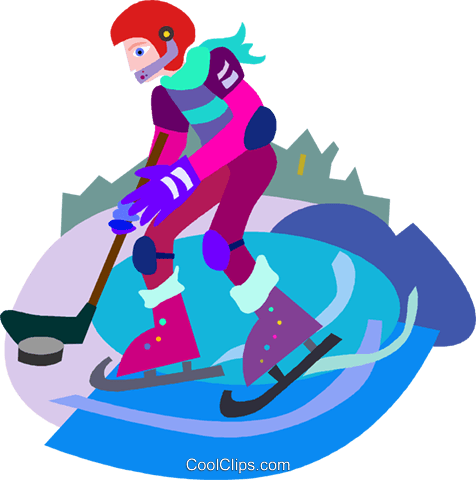 Hockey player Royalty Free Vector Clip Art illustration vc010475