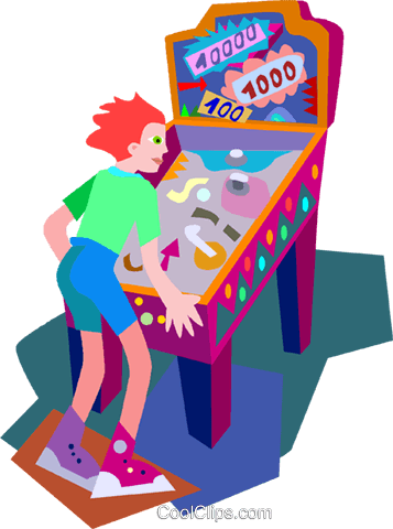 pinball machine Royalty Free Vector Clip Art illustration vc010477
