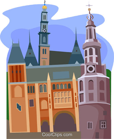 Amsterdam, Holland Royalty Free Vector Clip Art illustration vc010486