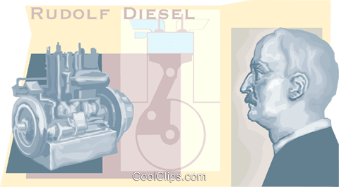 Rudolf diesel Royalty Free Vector Clip Art illustration vc010488