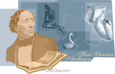 Hans Christian Andersen Royalty Free Vector Clip Art illustration vc010490