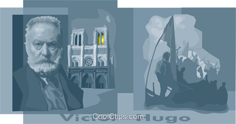 Hugo, Victor Marie Royalty Free Vector Clip Art illustration vc010491
