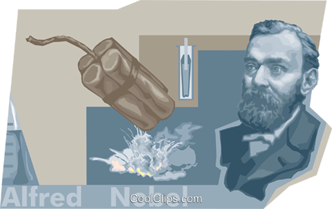 Alfred Nobel Royalty Free Vector Clip Art illustration vc010492