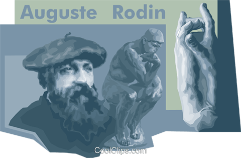 august rodin Royalty Free Vector Clip Art illustration vc010493