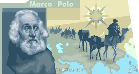 Marco polo Royalty Free Vector Clip Art illustration vc010494
