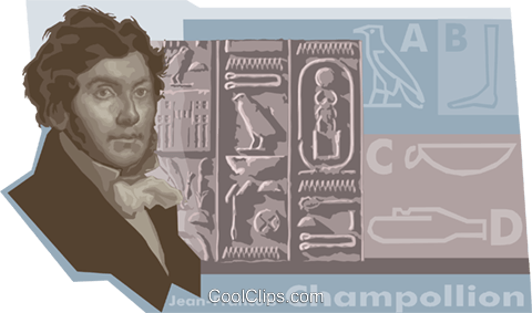 Champollion Egyptology Royalty Free Vector Clip Art illustration vc010495