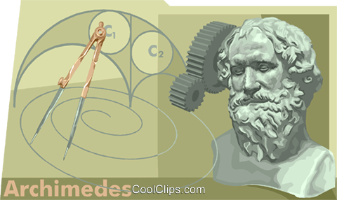 Archimedes Royalty Free Vector Clip Art illustration vc010496