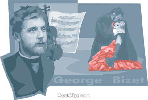George Bizet Royalty Free Vector Clip Art illustration vc010497