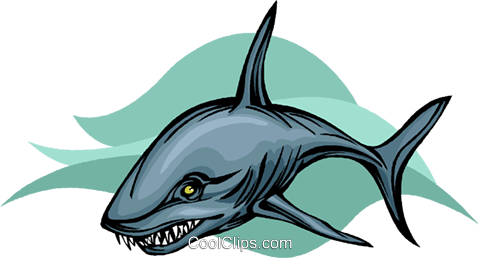 shark Royalty Free Vector Clip Art illustration vc010503