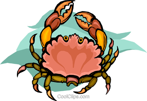 crab Royalty Free Vector Clip Art illustration vc010505