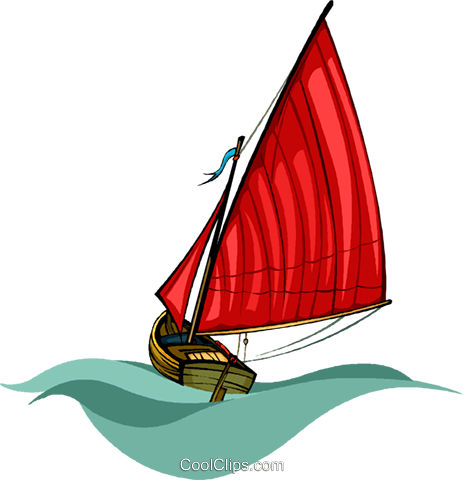 sailboat Royalty Free Vector Clip Art illustration vc010506