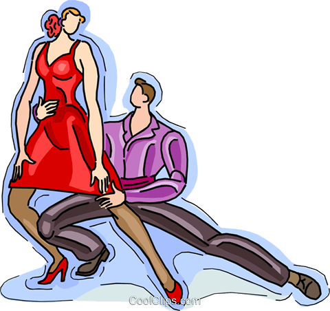 couple dancing Royalty Free Vector Clip Art illustration vc010528