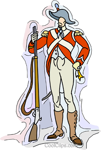 19th century soldier Royalty Free Vector Clip Art illustration vc010529