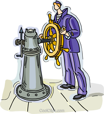 captain of the ship Royalty Free Vector Clip Art illustration vc010536