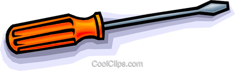 screwdriver Royalty Free Vector Clip Art illustration vc010558