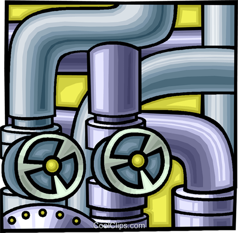 pipes and valves, industry Royalty Free Vector Clip Art illustration vc010562