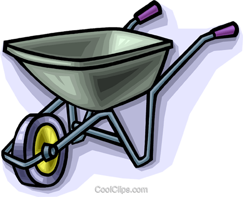 Wheelbarrow Royalty Free Vector Clip Art illustration vc010564