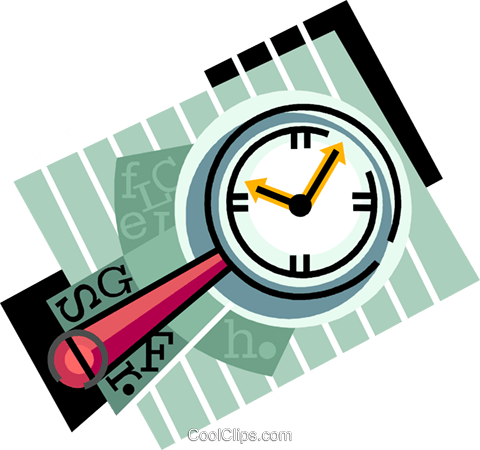 magnifying glass Royalty Free Vector Clip Art illustration vc010566