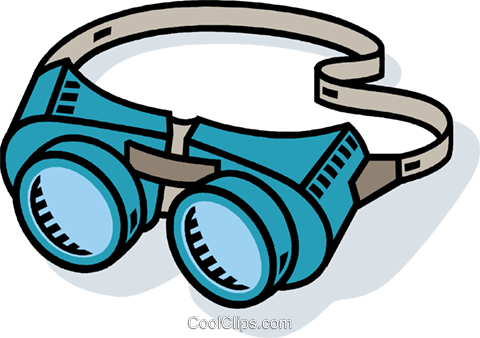 welders goggles Royalty Free Vector Clip Art illustration vc010573
