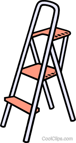 step ladder Royalty Free Vector Clip Art illustration vc010578