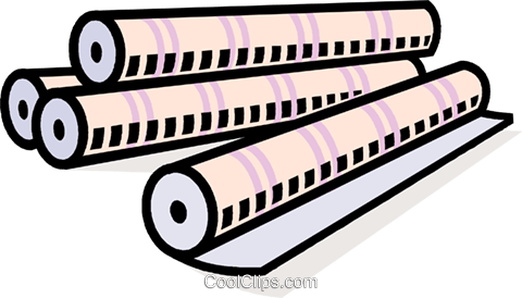 paper rolls Royalty Free Vector Clip Art illustration vc010580